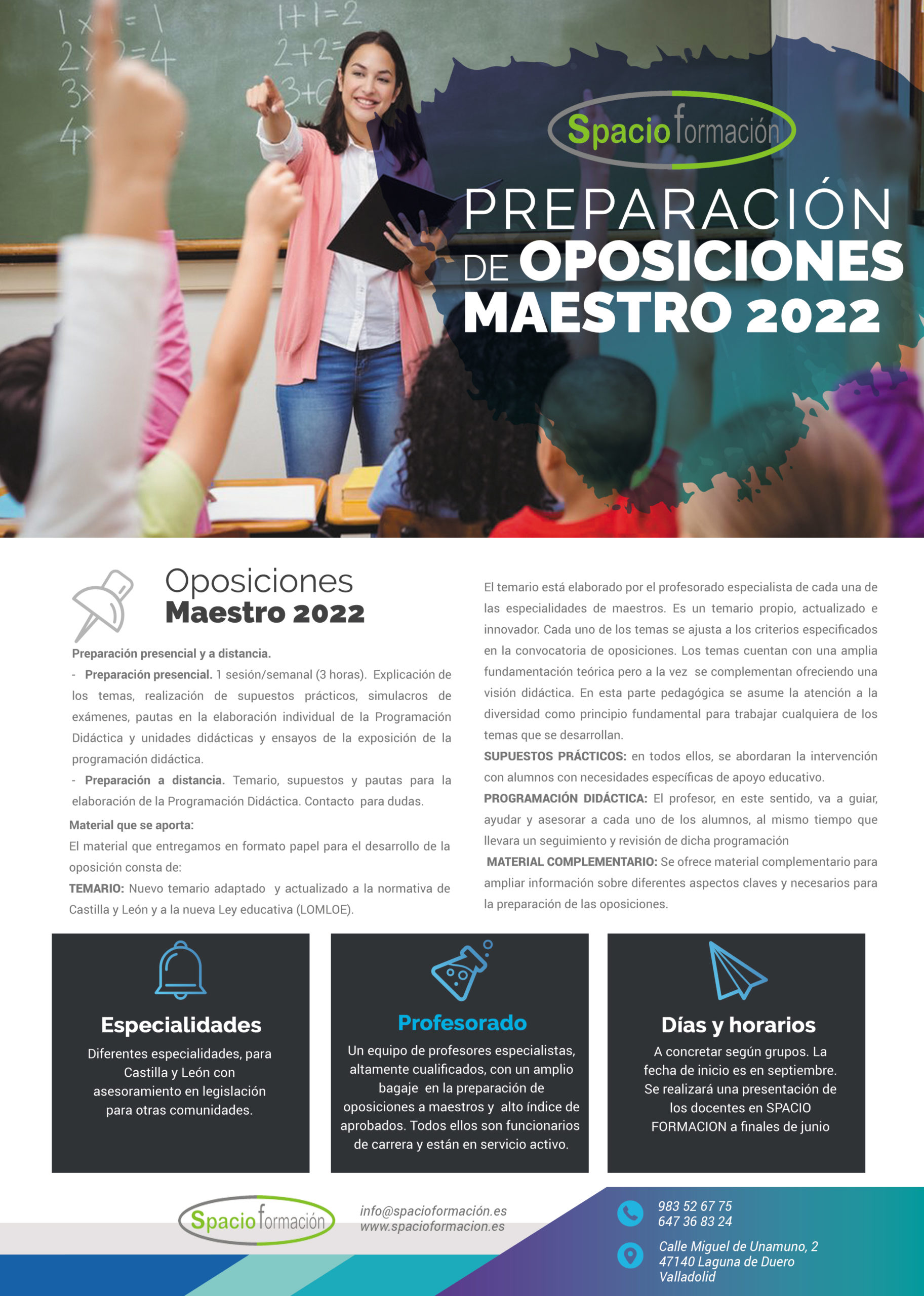 oposiciones maestros 2022